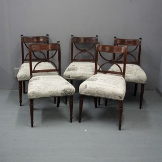 Set of 5 Regency Dining Chairs