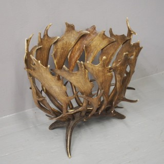 Scottish Fallow Deer Antler Log Holder or Basket
