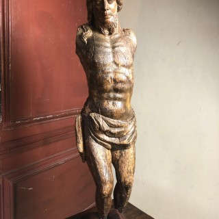 Lime Wood Carving Of Christ Figure C1500