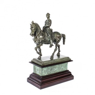 Antique Patinated Bronze Equestrian Statue of Bartolomeo Colleoni 1860 19th C