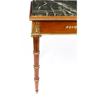 Antique French Empire Revival Marble Top Ormolu Mounted Centre Table 19th C