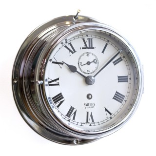 Chrome Ships Clock by Smiths