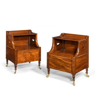 A Pair Of William IV Mahogany Bedside Cupboards by Gillows