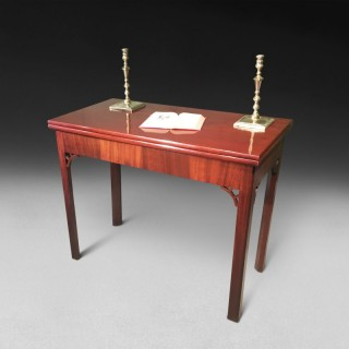 George III mahogany turnover top tea table