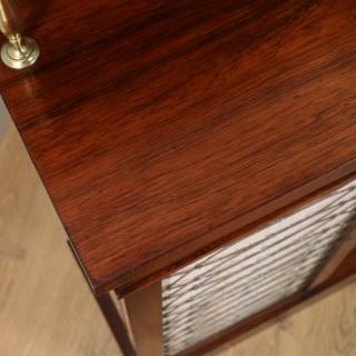 Antique English Regency Rosewood & Brass Chiffonier Bookcase (Circa 1820)