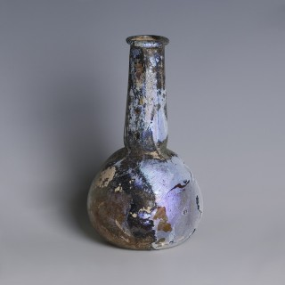 Roman Iridescent Glass Flask
