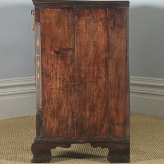 Antique English Georgian Inlaid Oak Mule Chest / Blanket Box (Circa 1780)