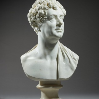 An Important Marble Portrait Bust of King George IV