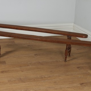 "Antique Pair of 7ft 10"" French Provincial Cherry Wood Kitchen Benches (Circa 1860)"