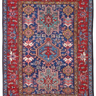 Antique Heriz rug, 'Karaja' design