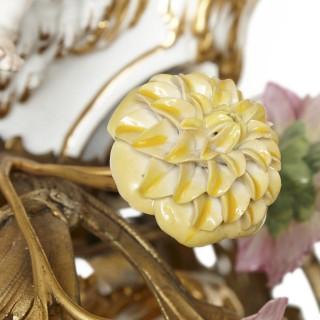 KPM porcelain and gilt bronze chandelier