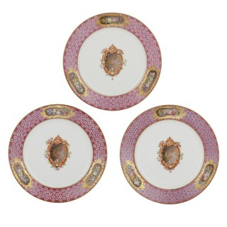 Three Sèvres plates of Islamic interest