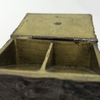 Bronze Mouse Stamp Box