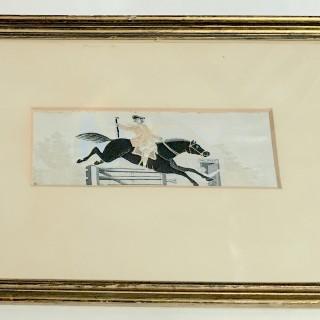 Silk Stevengraph of Dick Turpin.