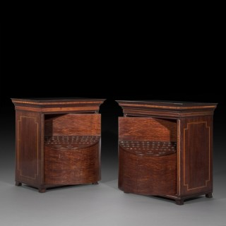 Pair of George III Revolving Cutlery Boxes