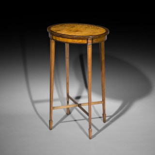 Satinwood Oval Lamp Table