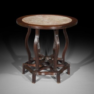 18th Century Chinese Export Marble Top Table