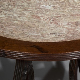 19th Century Anglo-Chinese Marble Top Table