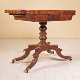 A Regency Period Mahogany Card Table