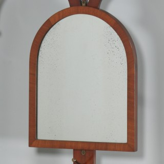 Antique English Victorian Mahogany & Marble Coat, Hat, Stick & Umbrella Hallstand With Mirror (Circa 1870)