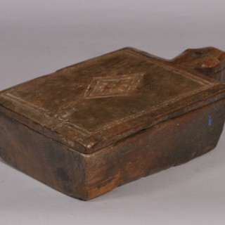 Antique Treen Teak Spice Box