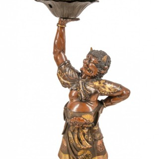 Japanese Meiji Period Bronze Miyao Style Gong