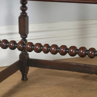 Antique English 17th Century Charles II Country Oak Occasional Hall Side Table (Circa 1680)