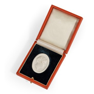 A White Vitreous Paste Cameo of Emma, Lady Hamilton, Attributed to William Tassie