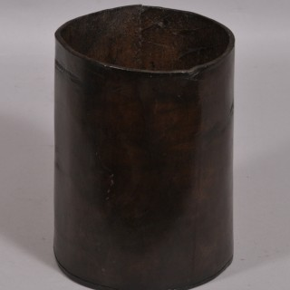 Antique 19th Century Hand Stitched Leather Container