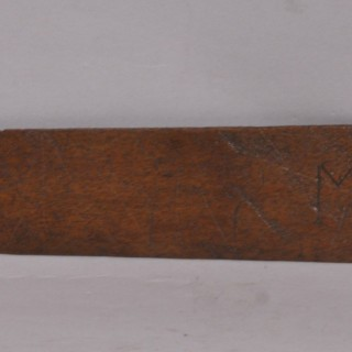 Antique Treen 18th Century Mahogany Stay Busk