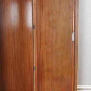 Antique English Art Deco Burr Walnut Two Door Armoire Wardrobe by Ray & Miles of Liverpool (Circa 1930)