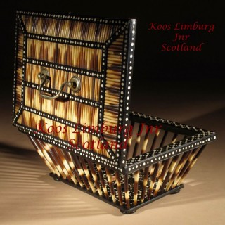 A High Quality Strong Quill/Porcupine Anglo Indian Knitting Basket circa  1870-1900