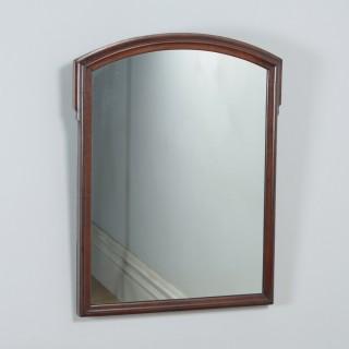 Antique English Victorian Mahogany Overmantle Wall Hanging Mirror (Circa 1870)