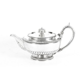 Antique Rare Georgian Sterling Silver Teapot by Paul Storr 1810 19th Century