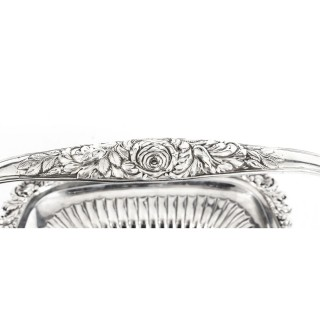 Antique English George IV Sterling Silver Fruit Bread Basket by Paul Storr 1823