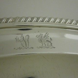 Antique Victorian Sterling silver serving dish/meat plate
