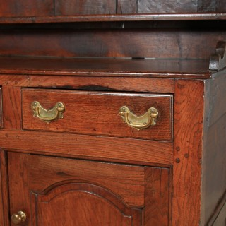 Antique Welsh Snowdonia Georgian Oak Joined High Dresser Base & Rack Sideboard (Circa 1740)