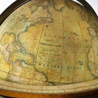 A William IV 20 inch Terrestrial Globe By Cruchley