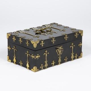 BRASS BOUND BOX by W. LEUCHARS