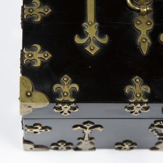 BRASS BOUND BOX by W. LEUCHARS