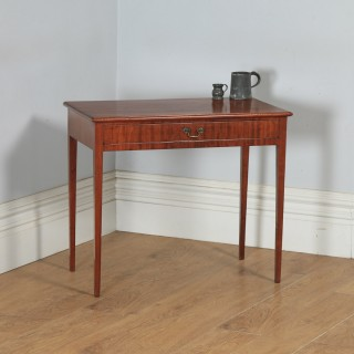 Antique English 19th Century Georgian Mahogany Occasional Side Hall Writing Lowboy Table (Circa 1800)