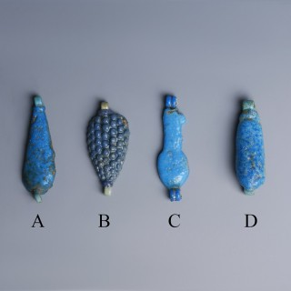 Egyptian Blu Faience Amulets
