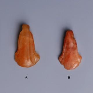 Egyptian Carnelian Lotus Amulets