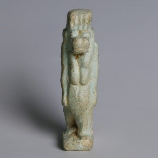 Egyptian Faience Taweret Amulet