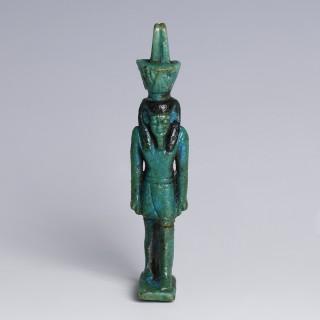Egyptian Glazed Faience Amulet of Nefertem