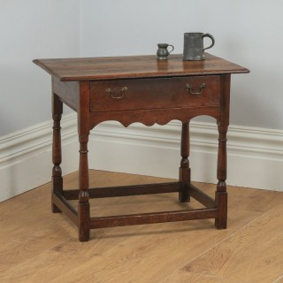 Antique English 18th Century Georgian Oak Occasional Side Hall Writing Table (Circa 1740)