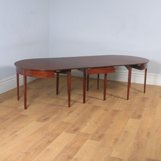 Antique English Georgian Mahogany, Round Extendable 'D' Dining Table Seats 10 Persons (Circa 1800)