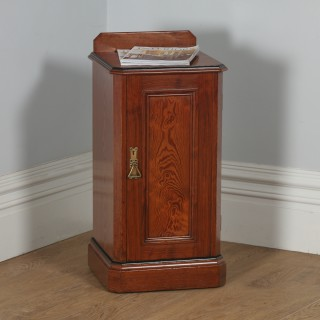 Antique English Victorian Pitch Pine Bedside Chest Pot Cupboard Night Stand Cabinet (Circa 1890)