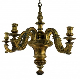 A FINE ENGLISH GILT BRONZE CHANDELIER