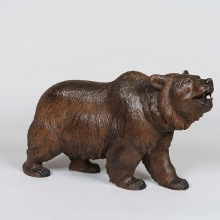 A Pair of Miniature Black Forest Bear Carvings